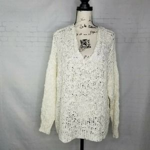 Free People Pullover Knit Sweater Ivory Size S